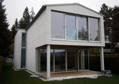 Haus mit Eternitfassade