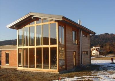 Haus mit Glasfassade